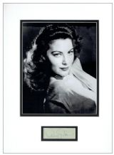 Ava Gardner Autograph Display